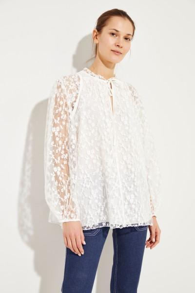 a2130795edf279 Cotton lace blouse Iconic Milk