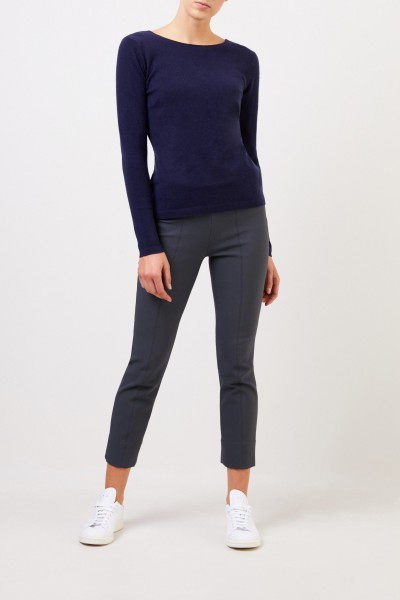 Cashmere Sweater with detail Navy