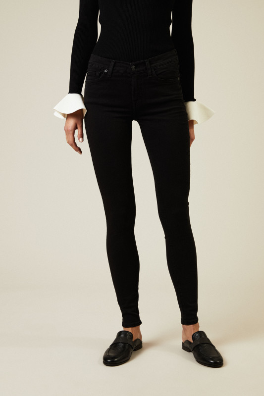 Jeans 'The Skinny Slim Illusion' Schwarz