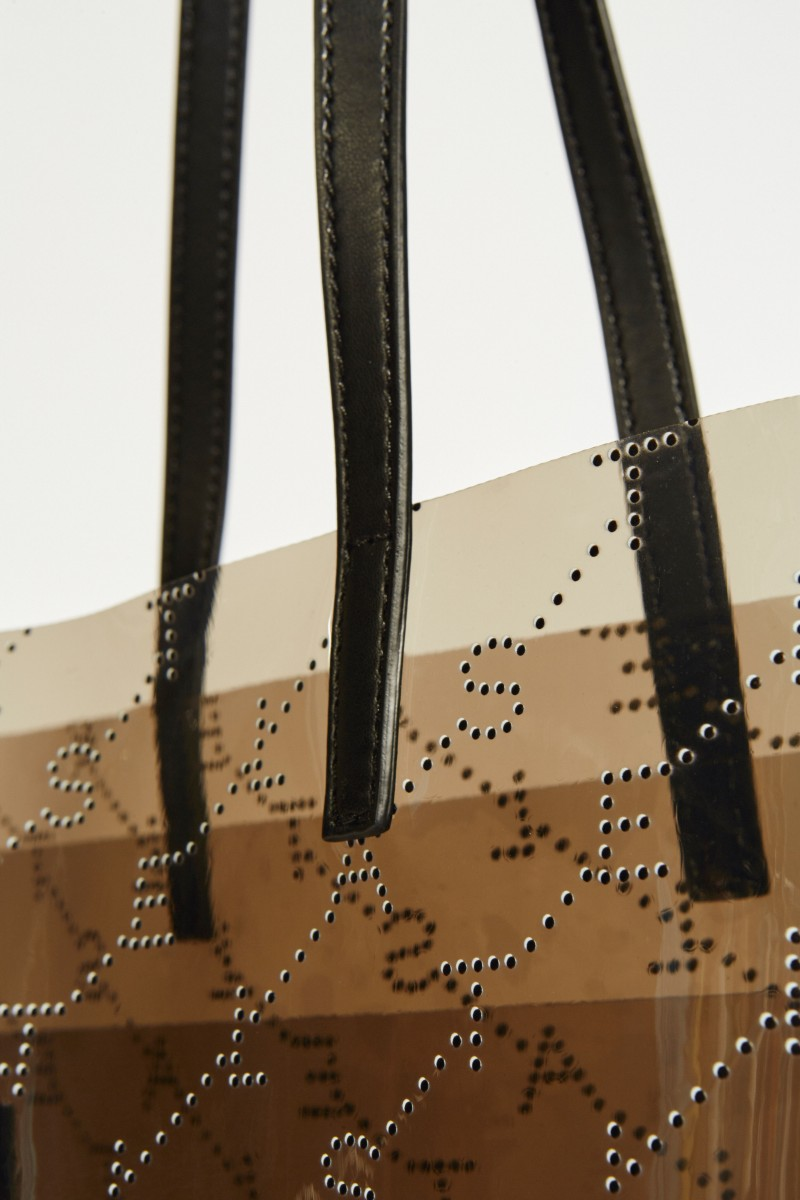 Tasche 'Tote Small' mit Monogramm Grau