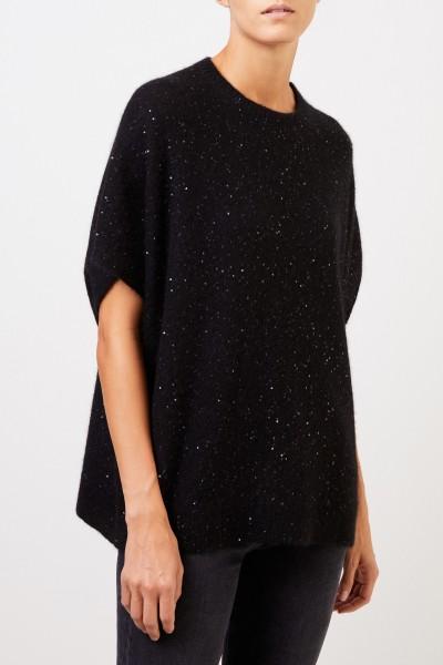 Fabiana Filippi Cashmere pullover with sequin details Black