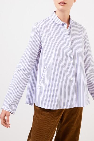 Robert Friedman Ausgestellte Bluse mit Streifen Blau/Multi