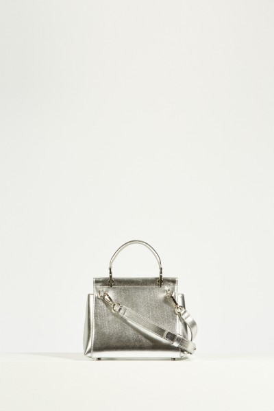 Roger Vivier Bag 'VIV Cabas Mini' with crystal decorated buckle Silver