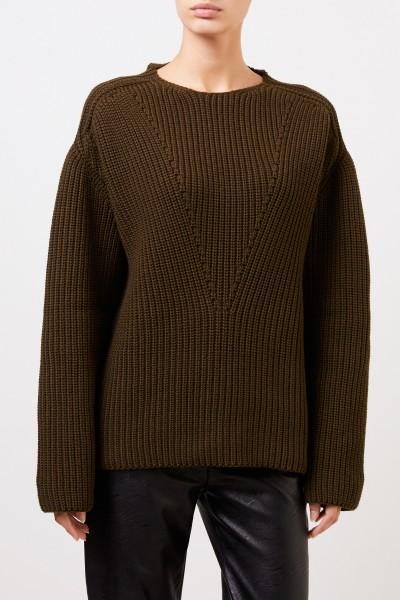 Bottega Veneta Cashmere-Rollkragenpullover mit Detail Khaki