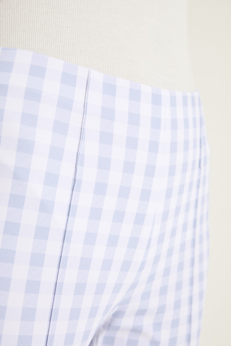 Karierte Hose 'Capri' Blau/Weiß
