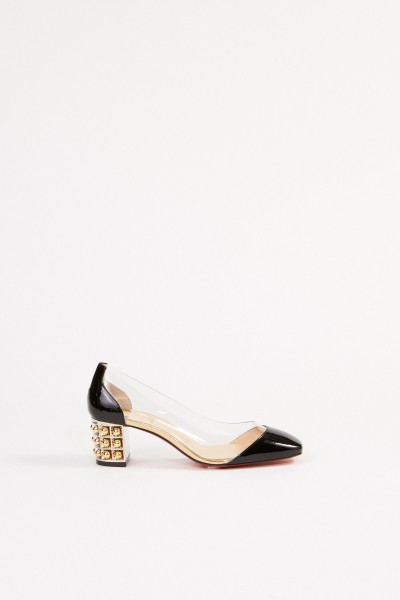 Christian Louboutin Pump 'Gallica 55' with pearl trimming Black