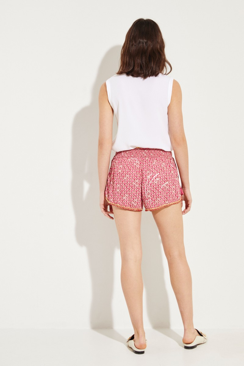 Shorts 'Elise' mit floralem Print Pink/Multi