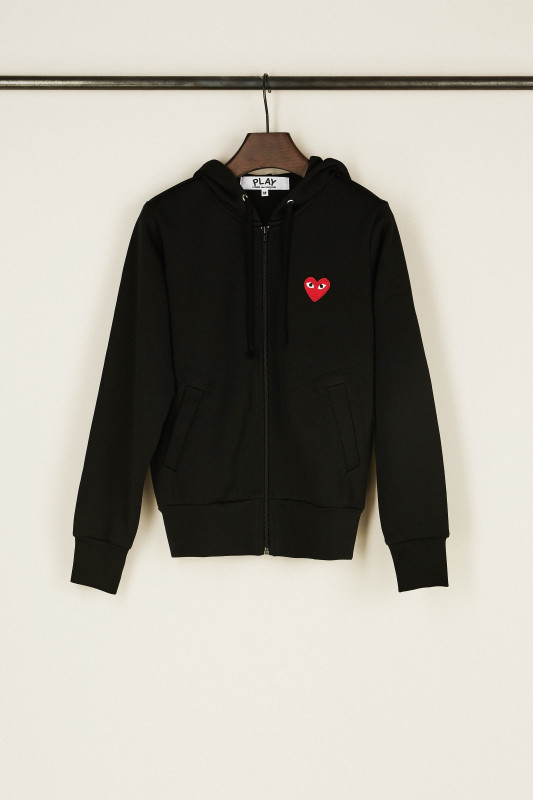 Sweatjacke mit Herz-Emblem Schwarz