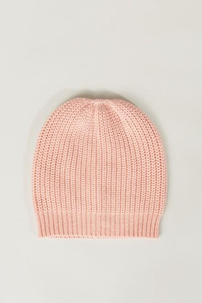 Cashmere-Mütze Rosé