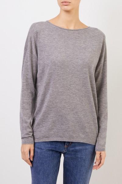 Iris von Arnim Fine cashmere sweater 'Laniv' Grey