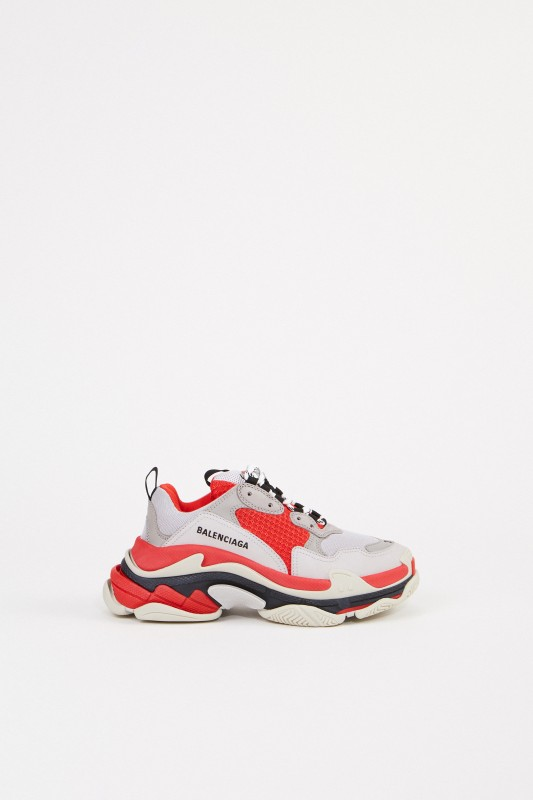 Balenciaga Sneaker 'Triple S' Rot/Grau