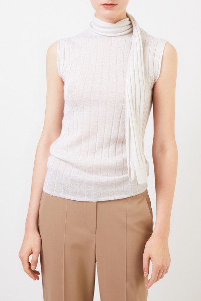 Brunello Cucinelli Mohair sweater with binding detail Cream