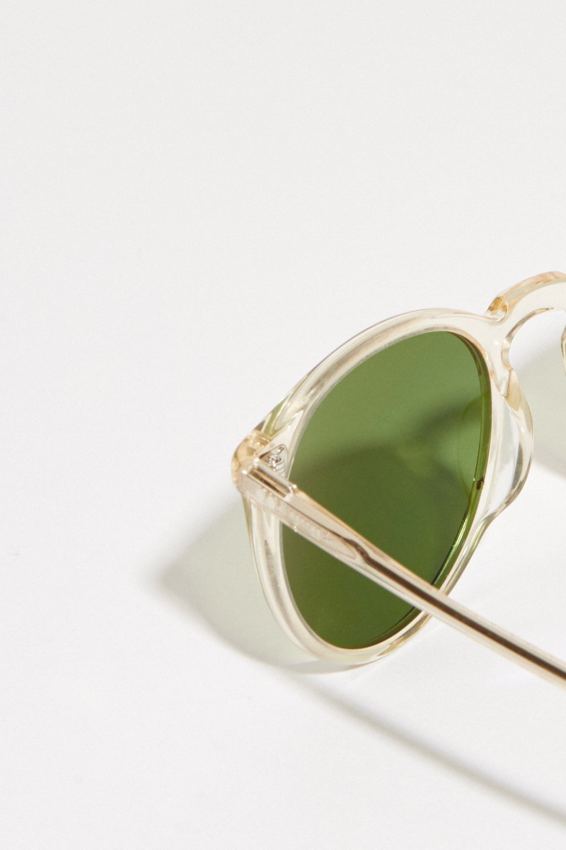 Oliver Peoples Sonnenbrille 'O'Melly Sun' Transparent/Grün