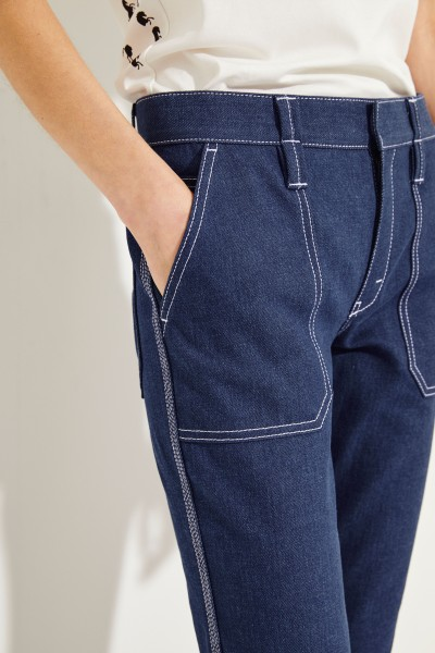 Chloé Jeans with decorative stitching Blue