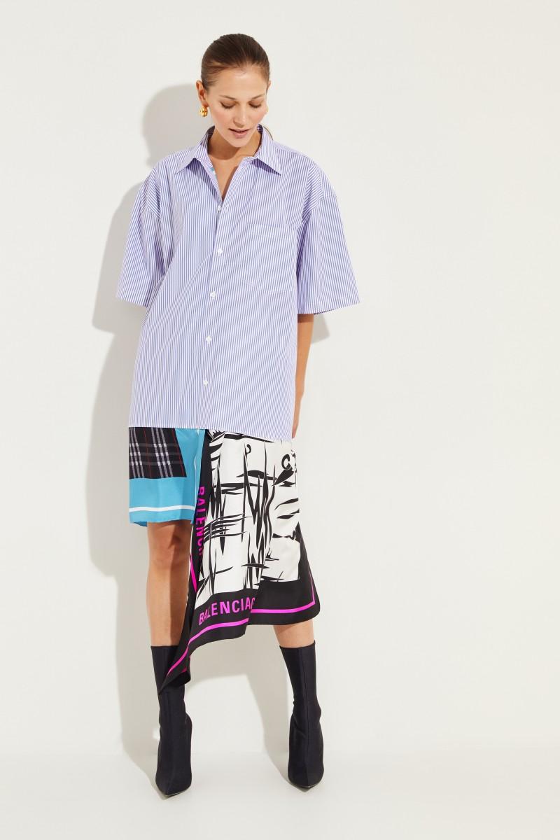Balenciaga Oversized Hemdblusenkleid Multi
