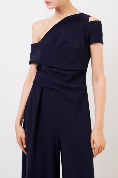 Talbot Runhof One-Shoulder Jumpsuit Marineblau