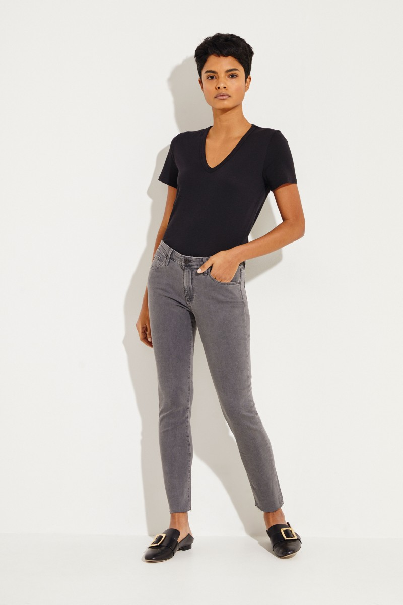 Jeans 'Prima Ankle' Grau