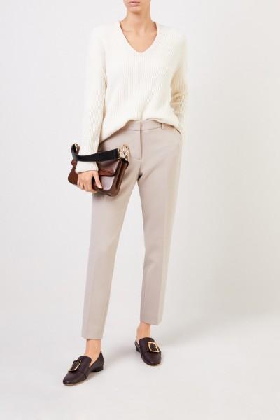 Klassische Hose mit Bügelfalten Beige