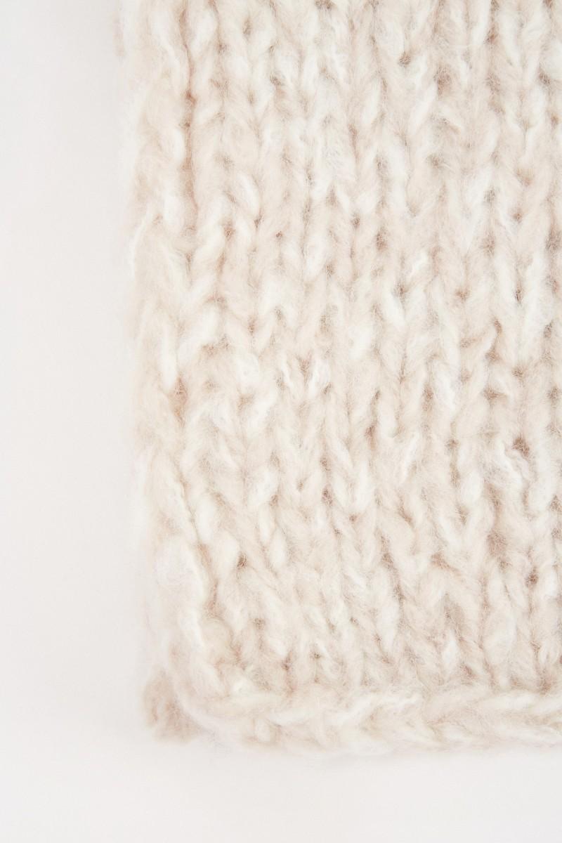 Iris von Arnim Cashmere-Handstrickschal 'Admira' Ecru/Natur