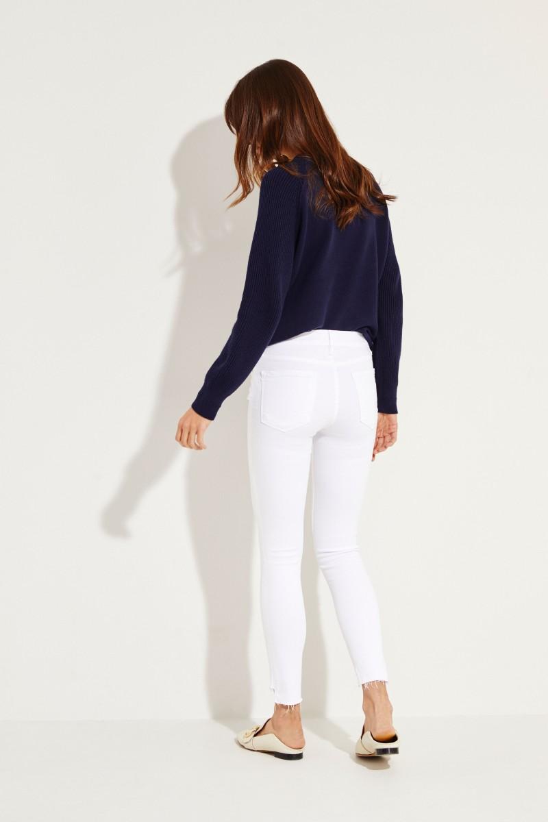 Mid-Rise Skinny Jeans 'Jeanne' Weiß