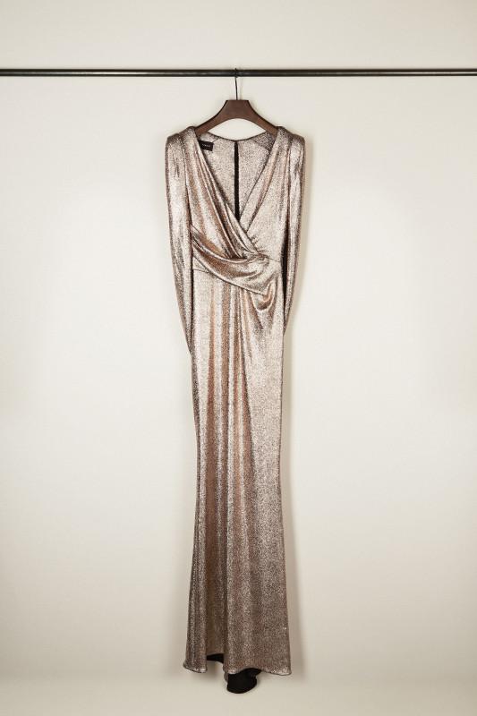 Abendkleid 'Rosin1' Nude Metallic