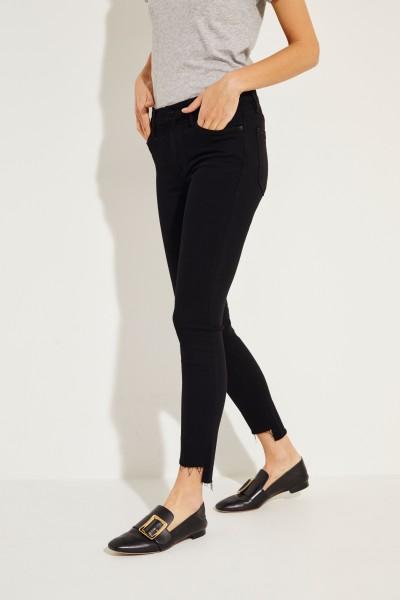 High Rise Skinny Jeans 'Jeanne' Schwarz