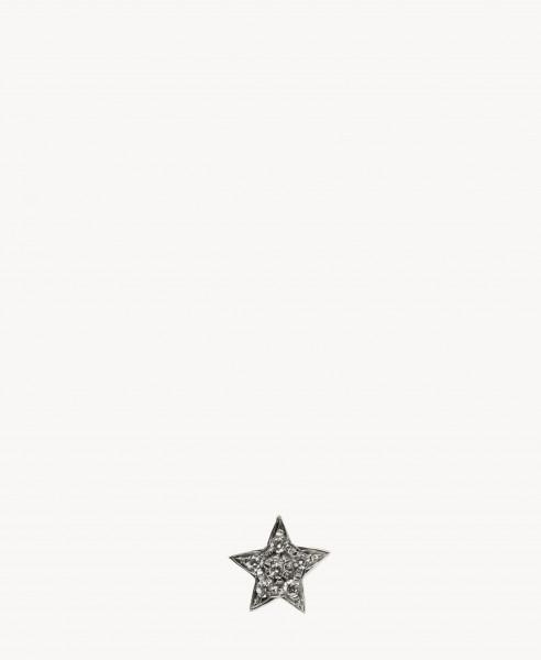 Verzierter sternenförmiger Ohrstecker 'Superstellar' mit 18 Karat Weißgold