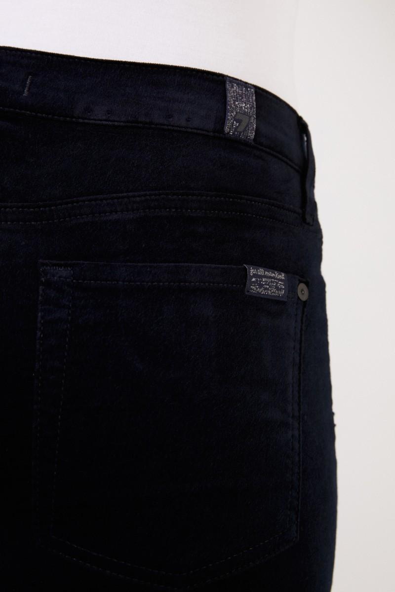 7 for all mankind Samt-Jeans 'The Skinny' Marineblau