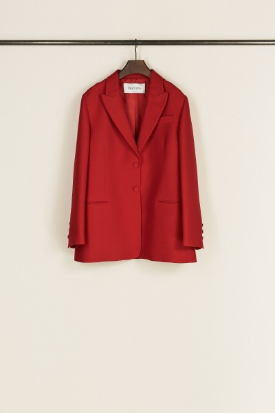Seiden-Woll-Blazer Rot