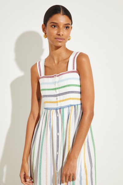ba84156bc1b34 Karma Beach Cotton dress with stripes White Multi €229.00 One size