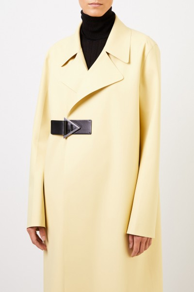 Bottega Veneta Satin rubber coat Light Yellow