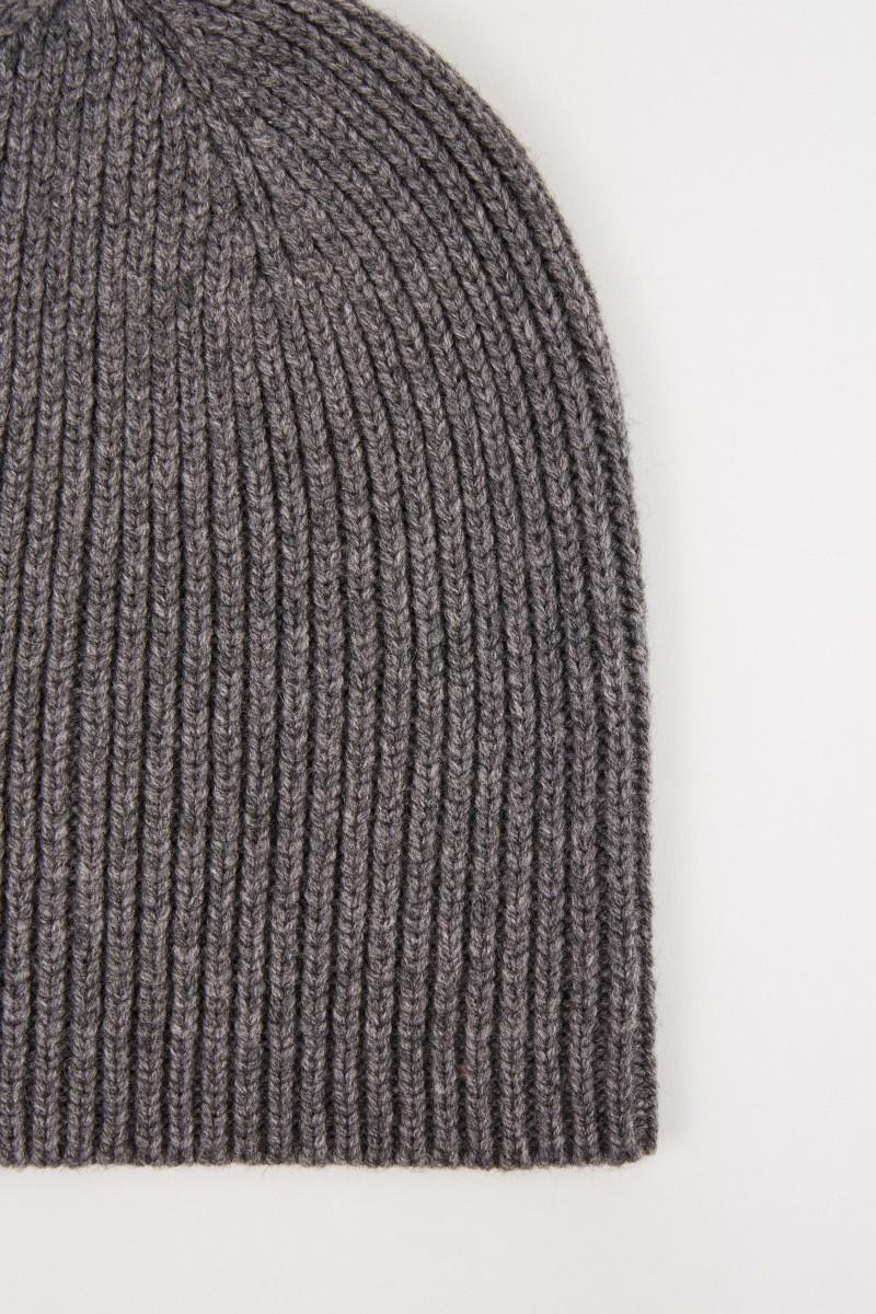 Uzwei Woll-Cashmere-Mütze Grau