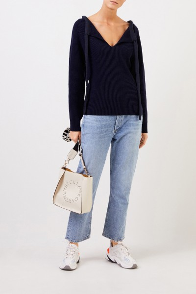 Stella McCartney Cashmere pullover with detail Navy Blue