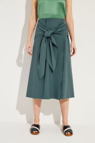 Midi skirt with binding detail Green