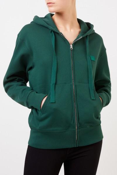 Acne Studios Sweatshirt-Jacke 'Ferris Zip Face' Grün