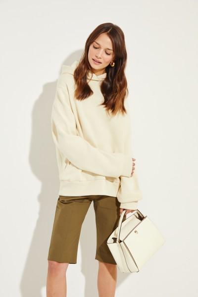 Sweatshirt mit Kapuze 'Wren Hood' Crème