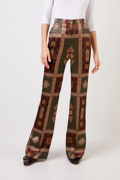 Etro Trousers with print Multi