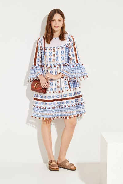 DODO BAR OR Cotton midi dress with tassels 'Marioli' Multi