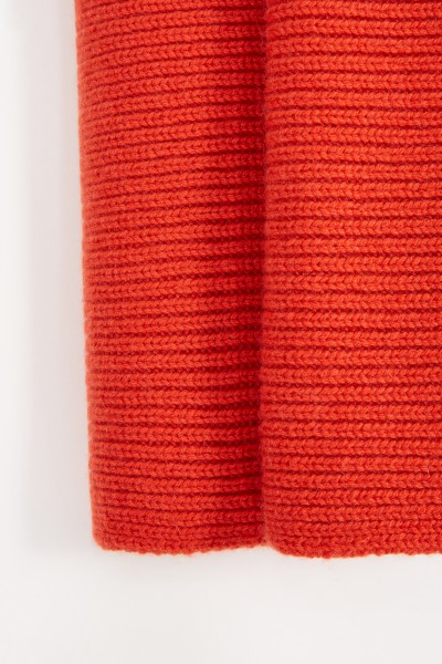 Uzwei Wool cashmere scarf Orange