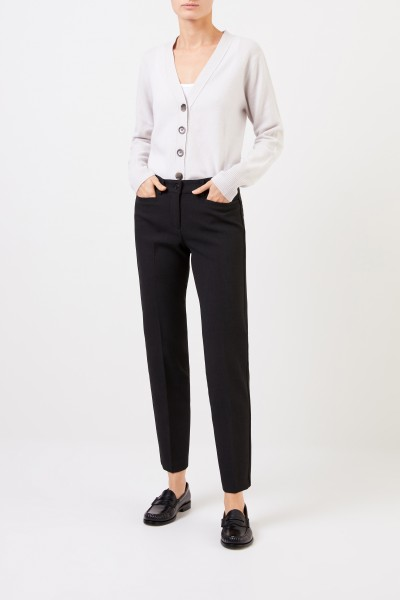 Cambio Trousers 'Renira' with lurex details Anthracite